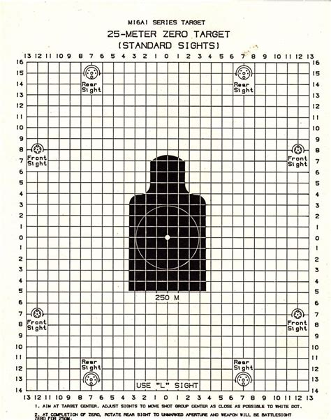 printable targets for zeroing m16 zero targets gun and game the friendliest gun