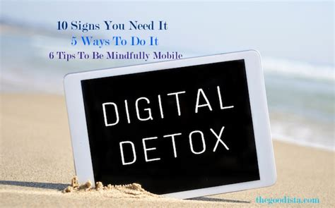 Digital Detox For by Digital Detox How To Unplug And Reconnect The Goodista
