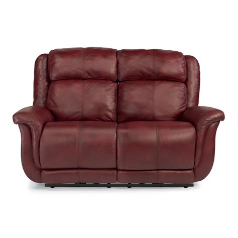 Flexsteel Reclining Loveseat by Flexsteel 1251 60p Brookings Leather Power Reclining