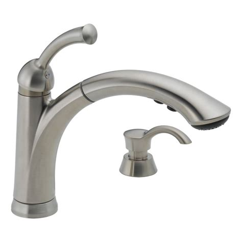delta faucet kitchen faucet 16926 sssd dst in brilliance stainless by delta