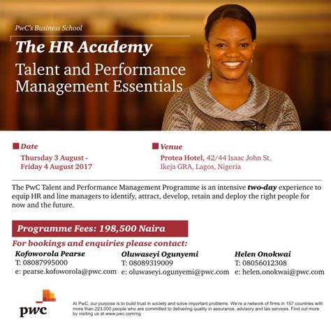 Pwc Post Mba Salary by Pwc Business School Holds For Hr Personnel