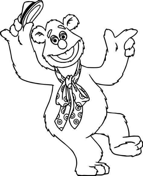the muppets fozzie bear coloring pages wecoloringpage