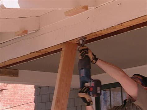 Support For Sagging by How To Repair A Sagging Support Beam How Tos Diy