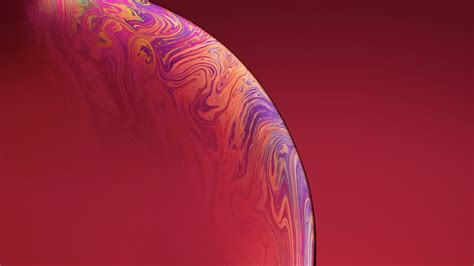 iphone xs double bubble red  hd  wallpapers
