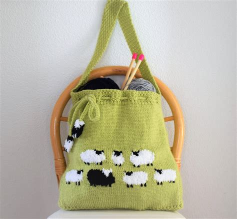 Handmade Bag Pattern - bag knitting pattern knitting bag pattern handmade tote
