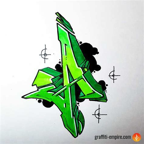 Graffiti Letter A   Graffiti Empire
