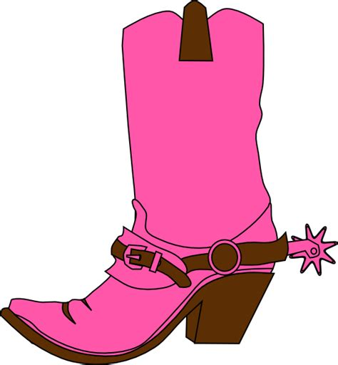 cowboy boot clipart hat and boot clip at clker vector clip