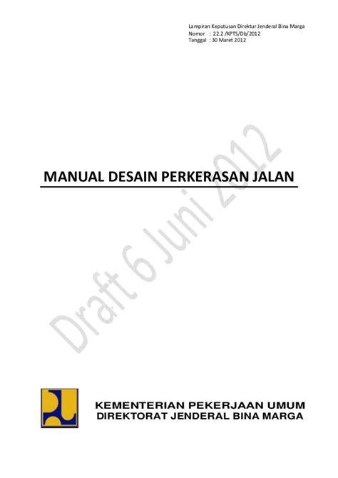 desain lu penerangan jalan umum manual desain perkerasan jalan baru 2012