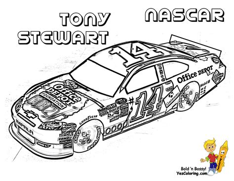 amazing coloring pages nascar coloring pages