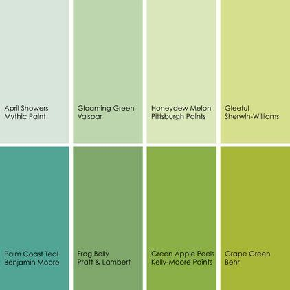 bathed  color    green   bath green