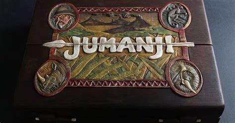 jumanji movie parts man carves replica of the wooden jumanji board game