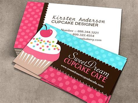 Cupcake Templates For Cards cupcake baker business card template bakery