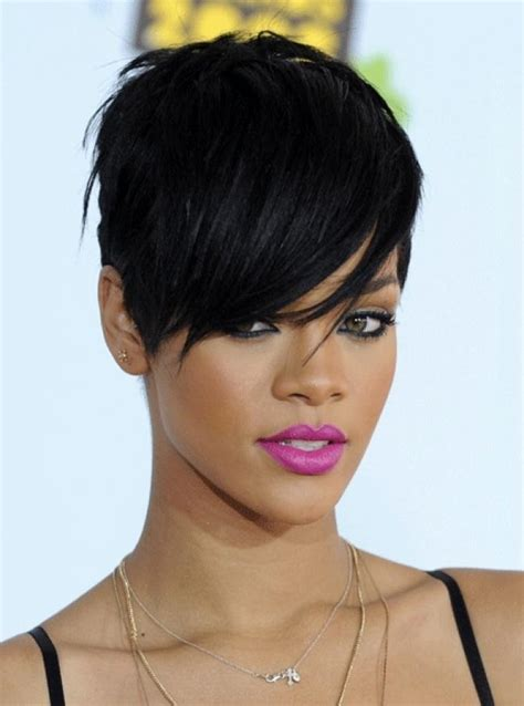 hairstyles for dark hair oval face black women short hairstyles for oval faces