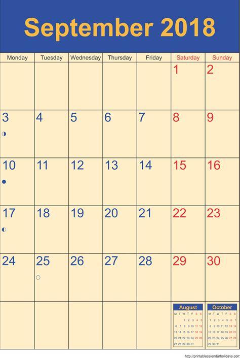 2018 calendar word monthly printable calendar