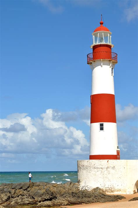 where the light is free picture red white tower lighthouse