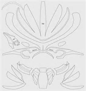Cardboard Mask Template by Dali Lomo Predator Costume Mask Cardboard Diy Template