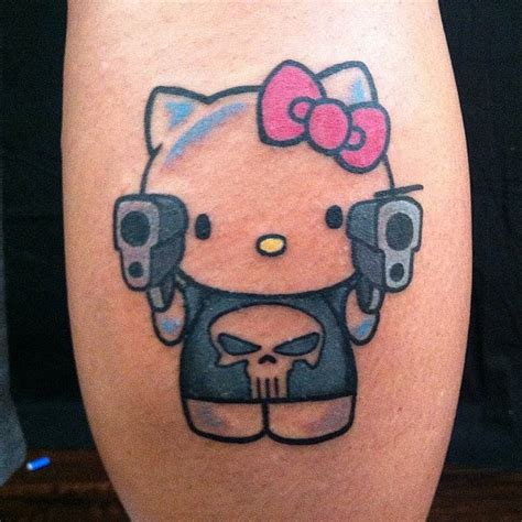 13 hello kitty tattoo ideas for leg