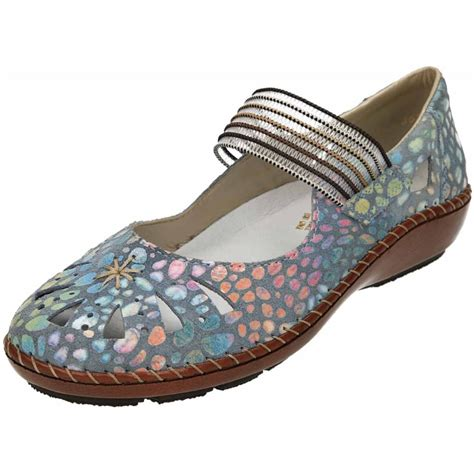 funky shoes rieker casual leather flat funky shoes 44865 10