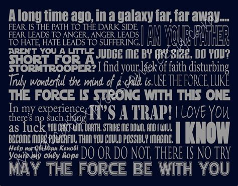 Catalog Request Pottery Barn Star Wars Art Quote Inspired Typography 11 By 14