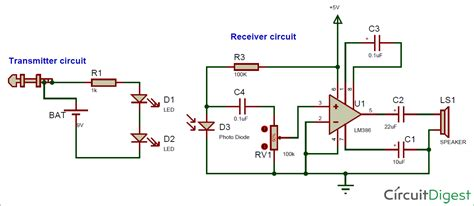 Wifi Receiver Circuit Diagram Circuit And Schematics Diagram Ir Based Wireless Audio Transmitter And Receiver Circuit