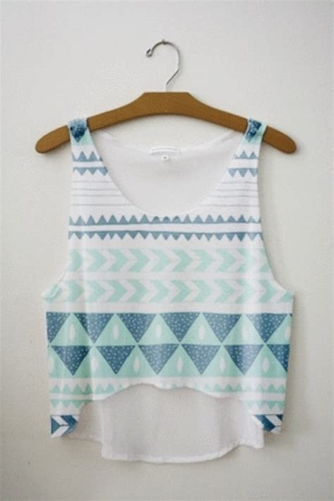 pattern shirts tumblr tank top shirt tribal pattern crop tops crop tops love