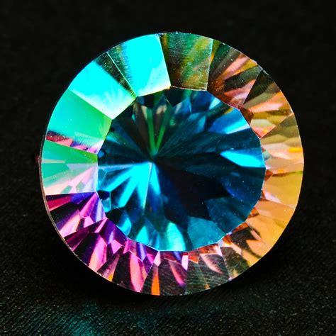Mistic Quart brilliant opal mystic quartz 15mm faceted gemstone 10 50 carats ebay