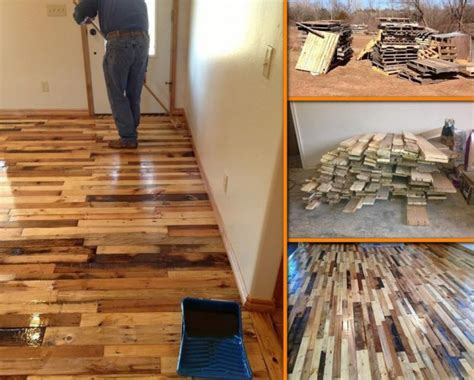 Hardwood Flooring Diy Diy Pallet Wood Flooring Tutorial Diy Pallet Ideas
