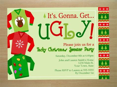 ugly christmas sweater party invitations marialonghi com