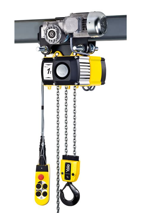 yale kg phase electric hoist cw powered trolley cm cpv   rs safetyliftingear