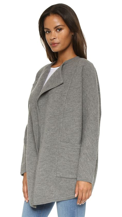 coats and sweaters madewell sweater coat grey in gray lyst