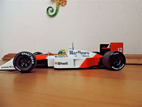1988 Ayrton Senna F1 Mclaren Mp 4 4 Formula 1 Gp Diecast Replica 1 43 ayrton senna 1988 1 18 marlboro mclaren honda mp4 4 f1
