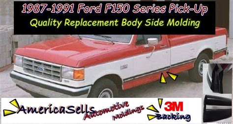 auto body repair training 1991 ford f series free book repair manuals 1987 1991 ford f series f150 f250 f350 bronco factory body side molding ebay