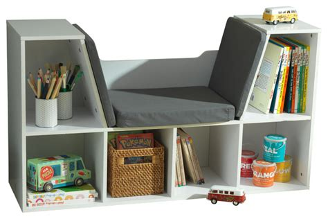 kidkraft bookcase with reading nook bookcase with reading nook white traditional kids