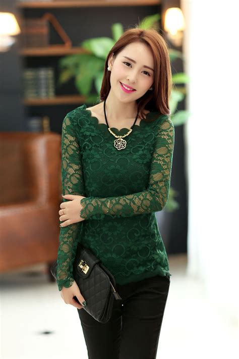 top design 2013 newest arrival top quality lace design round neck