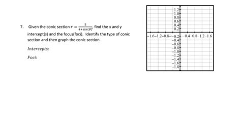 conic sections questions and answers solved given the conic section r 5 4 sin theta fin