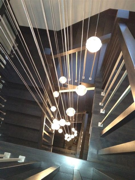 Staircase Lighting Fixtures S Bocce Shape Lighting Contemporary Staircase Montreal By Premiere Luminaire