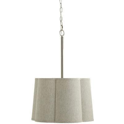 Linen Pendant Light Sculpted Linen Gray Pendant Light