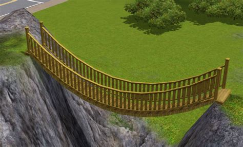 Diy Build A Suspension Footbridge Mod The Sims Tutorial Building A Simple Suspension Bridge