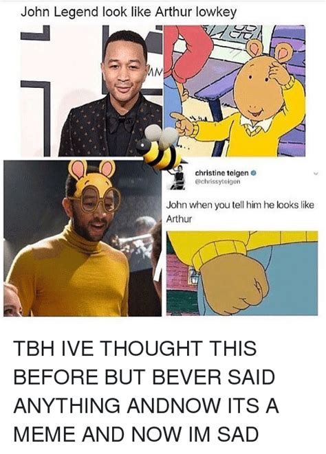 John Legend Meme - john legend look like arthur lowkey christine teigen