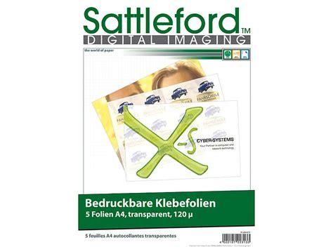 Transparente Aufkleber Erstellen by Sattleford Bedruckbare Klebefolie 5 Klebefolien A4