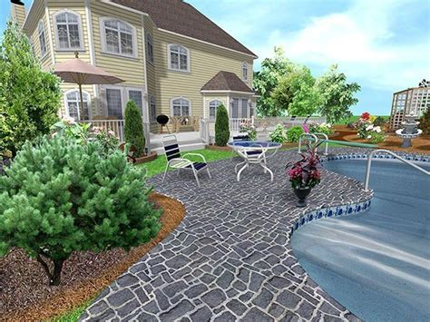 Backyard Landscaping Software by Free Visio Backyard Deck Stencil