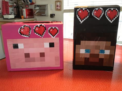 minecraft s day box minecraft valentines boxes s day