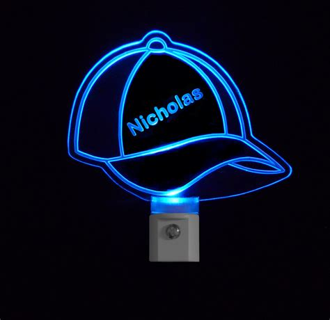 baseball cap with led lights kids personalized baseball cap led night light with name