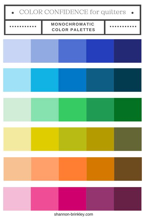 monochromatic color scheme color confidence for quilters part 2 monochromatic color