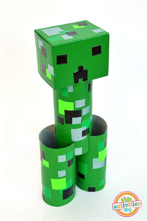 Papercrafts For Minecraft - easy cereal box pumpkin minecraft toilets and creepers