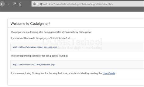 membuat database dengan codeigniter cara upload gambar menggunakan codeigniter dan mysql part