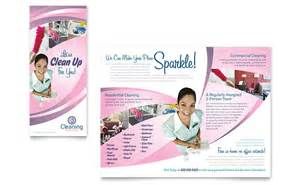 house cleaning amp maid services brochure template word