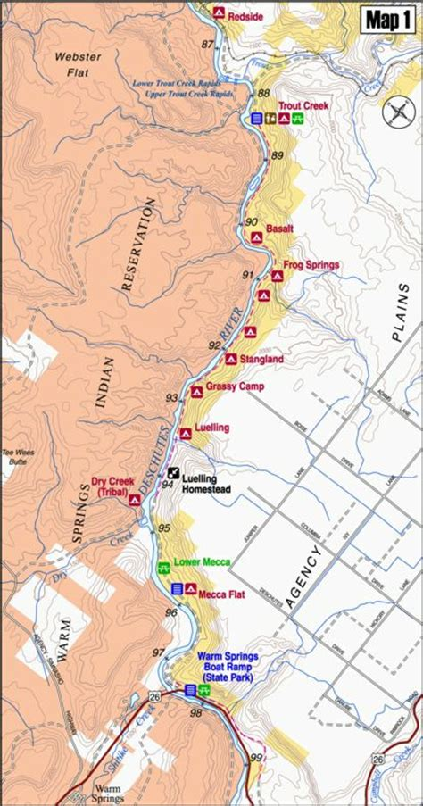 Map 1 - Warm Springs to Redside