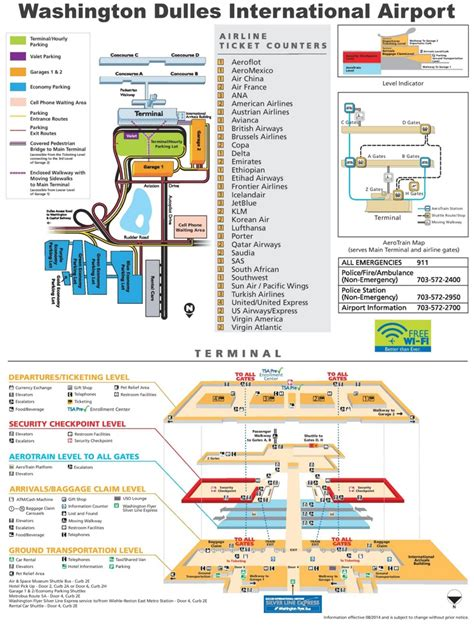 washington dc terminal map washington dulles international airport map