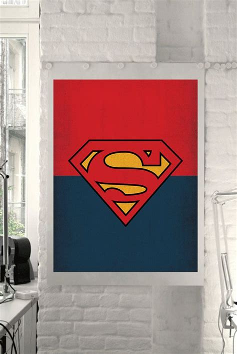 superman home decor dc universe comic store superheroes minimalist quot superman